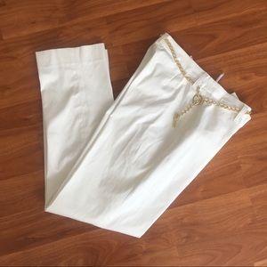 jones new york Women Striaght Leg white Pants